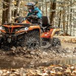 ATV vožnja u šumi CFMOTO 1